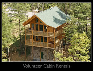 volunteer cabin rentals sevierville tn blue ridge mountains