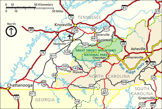 Similiar North Carolina Smoky Mountain Region Maps Keywords